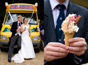 Ice Cream supplied at wedding on Boars Hill in Oxford.