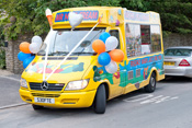 Ice Cream Van of Mister Nice Cream can be hired for weddings!