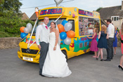 Ice Cream Van for hire in weddings at Oxford in United Kingdom.