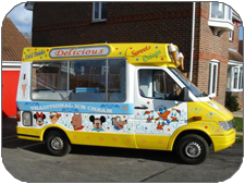 Hire an ice cream van in Oxford, Buckinghamshire, Warwickshire and Berkshire for your parties.