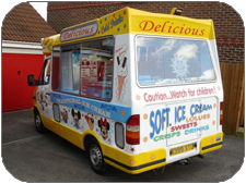 Northamptonshire, Worcestershire, Abingdon and Didcot ice cream man services for weddings, shows, college balls, birthdays and any other occasions.