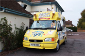 Mister Nice Cream Has Wheels and Can Travel Far Away to Sell and Serve Ice Cream in Gloucestershire