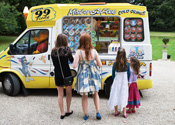So much choice at Mister Nice Cream's Ice cream Van